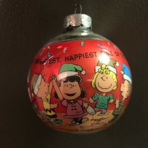 Vintage Peanuts Christmas ornament 1990